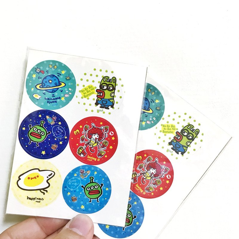 1212 play design seal sticker - alien seal sticker six input combination