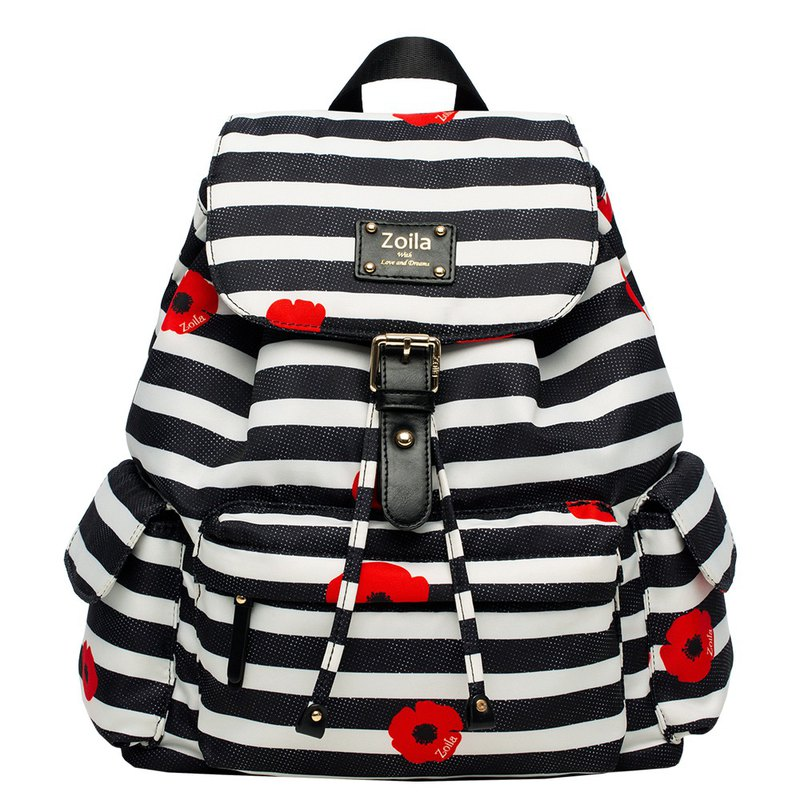 Ultra-lightweight_Elegant Mid-Beam Backpack_Parenting Bags Mom Bag_Magic Flower Border