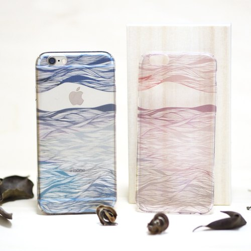Original series of cell phone protective cover - Yan fog, indigo cloud, to your important people