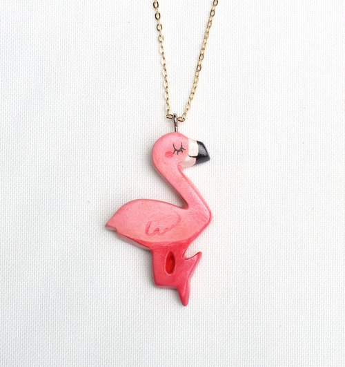 Red Crane Necklace / Alice