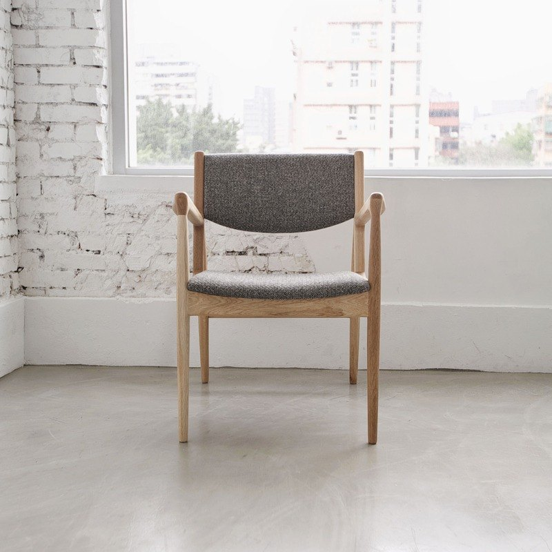 Micro sofa oak armchair (woven ash) (cloth color can be selected)