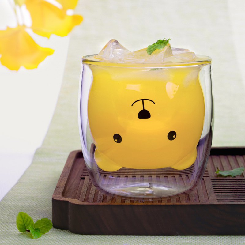 Double Wall Glass Cup-Bear(250ml)