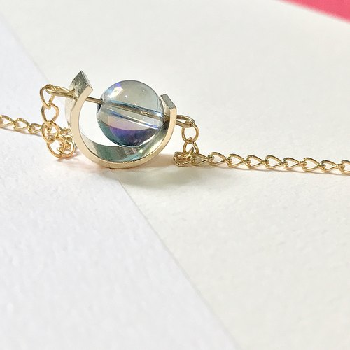 [日日Daily] Transparent bead gold bracelet