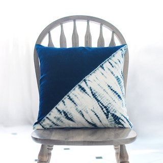 Indigo Throw Pillow, Decorative Pillow, Tie Dye, Pillow Case, Pillow Cover  Cush