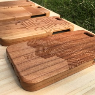 【TAB】 Wood texture phone case (Geometry Series) / Customized / Wen Chuang / solid wood / wood / wood / hand made / laser engraving / iPhone phone shell / wedding small objects
