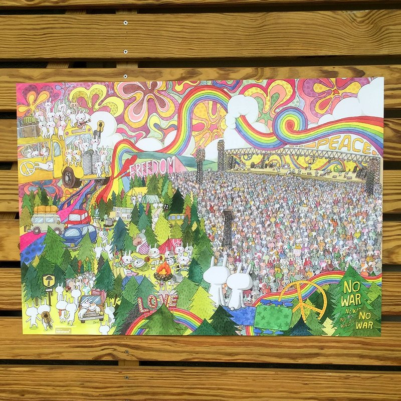 Original Painting Poster | Rabbit Music Festival