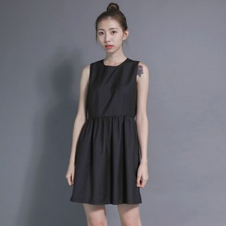 Pleated doll dress _7SF016_ black