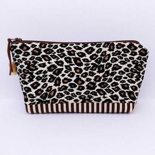 Classic leopard pattern large storage bag / large bag debris bag tool bag