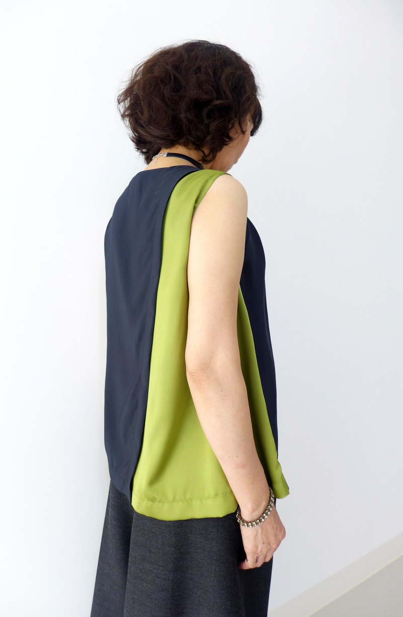 Matcha Black Forest - Back Slit Sleeveless Tank Top