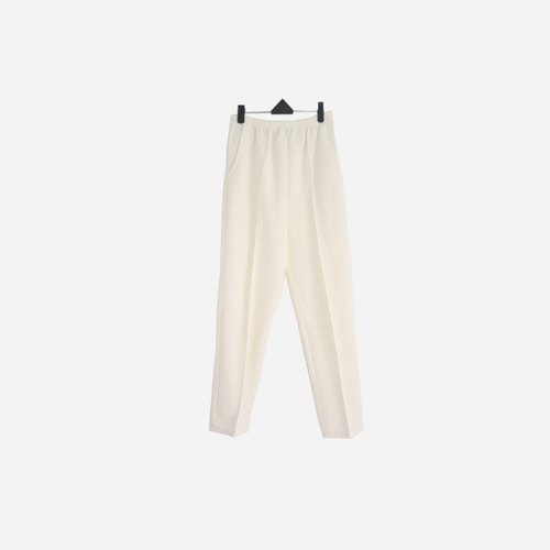 Dislocation vintage / plain white embossed trousers no.796 vintage
