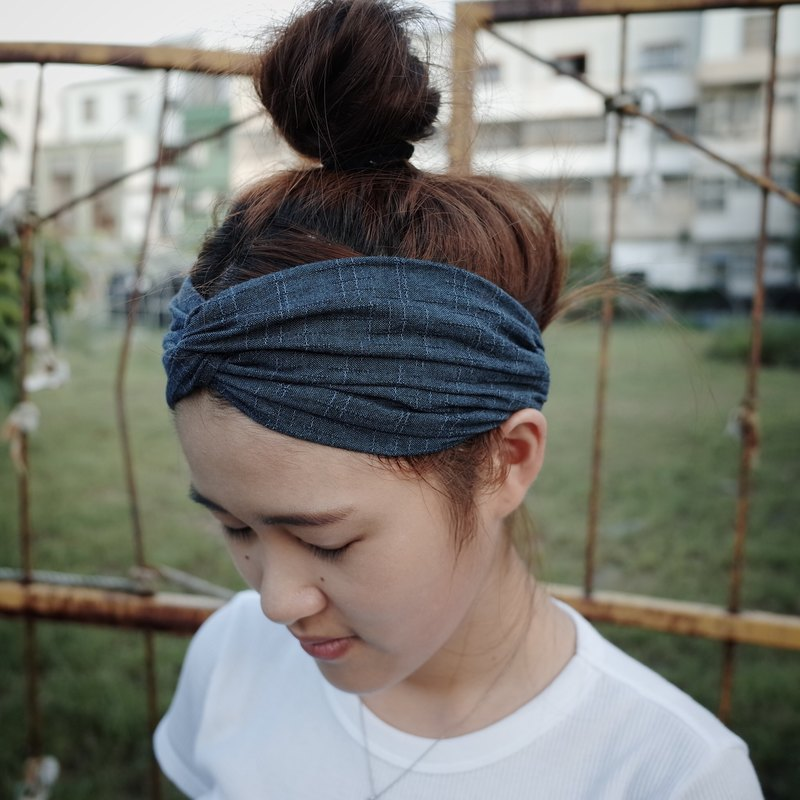 Southern blue tight Wide pine / handmade hair band