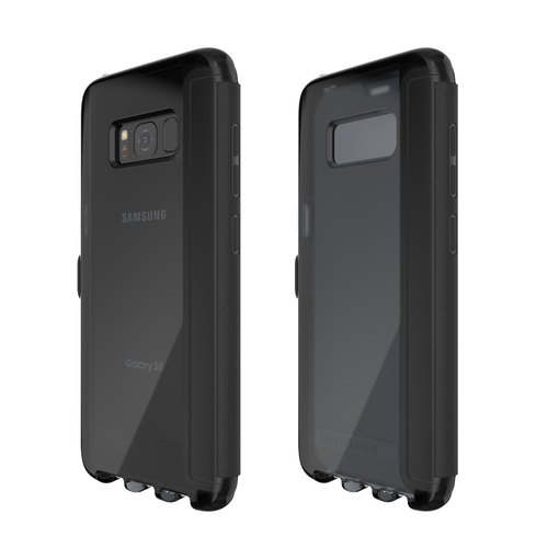 Tech21 UK Super Impact Evo Wallet Samsung S8 Collision Soft Protector - Black (5055517375726)