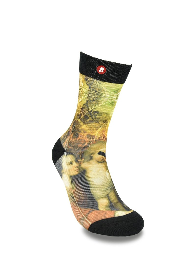 Fool's Day Printed Crew Socks - Holy Family