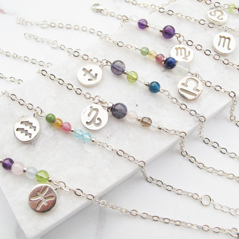 Grand Member [12 Constellation Lucky Stone Series] Cancer~Sagittarius × Handmade Sterling Silver Bracelet