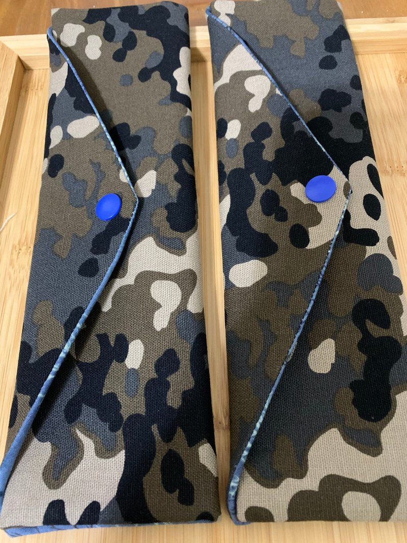 Wen Qingfeng environmental protection chopsticks bag cool handsome camouflage unique blue storage gift straw bag