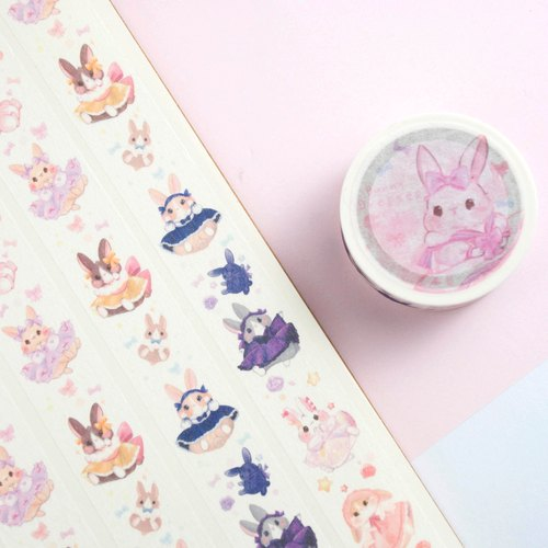 Dress Bunny (white color) - Masking tape