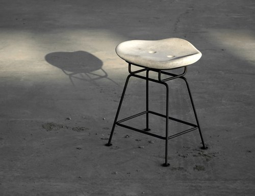 Weight Of Cloud - Cement Design Chair Stool Low Profile