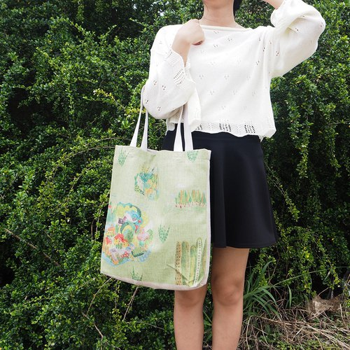 Green and Green Island Natural Cotton and Hemp Shopping Bag Bag