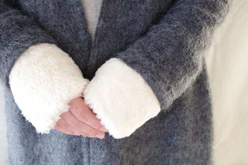 Organic Cotton Fur fluffy wrist warmer