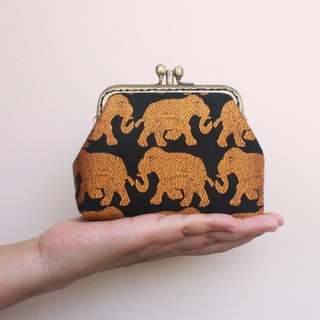 Dear Elephant Double Gold - Card Holder / Coin Purse
