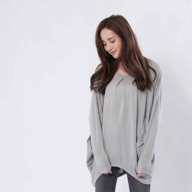 Lany TENCEL top / light grey