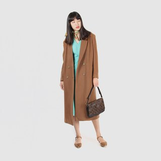 [Egg plant vintage] 20 women's wool vintage coat