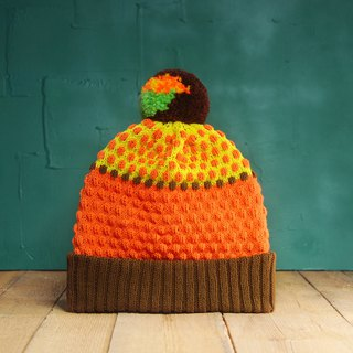 Honey Bear Detachable PomPom Beanie Hat