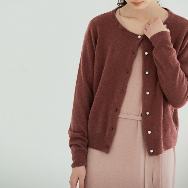 Cranberry DROPS Turquoise Button Basic 100% Australian Full Wool Knit Cardigan Sweater Four Colors