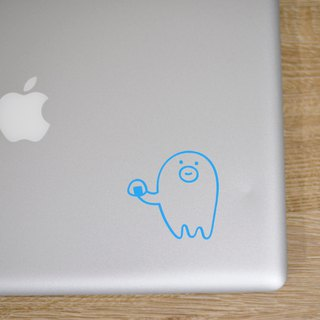Onigiri sticker _ octopus wiener _ aqua blue