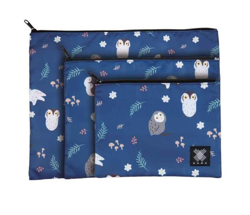 Multi-Functional Pouch 3pcs in 1 set - Owl Blue (No protective padding)