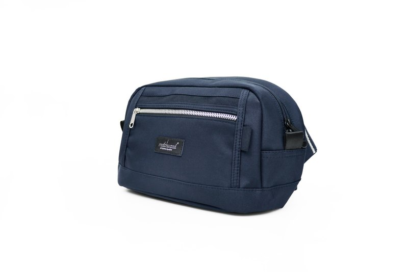 Matchwood Design Matchwood Density Pocket pouch │ Metallic navy blue