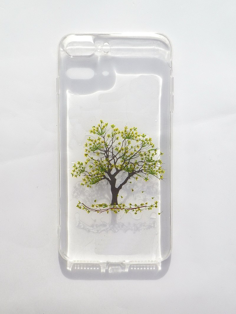 Pressed flower phone case, Handmade phone case, Tree
