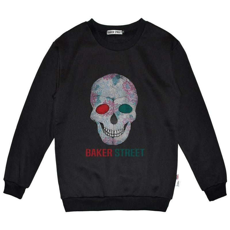 British Fashion Brand -Baker Street- Skull Printed Sweatshirt