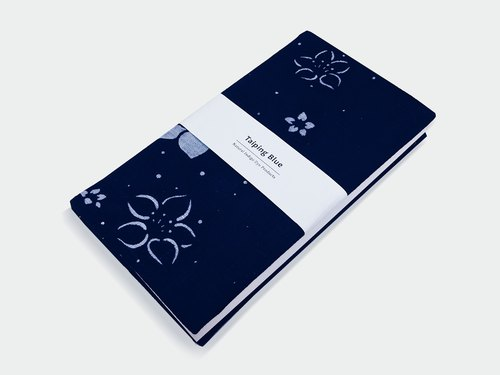 Blue dye notebook
