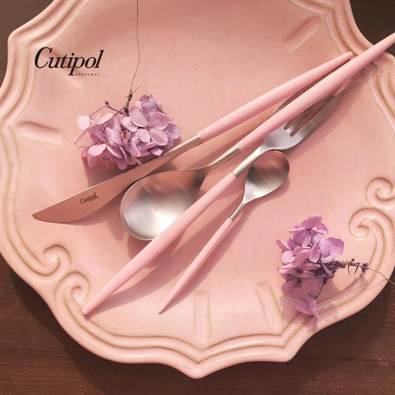 MIO PINK MATTE 4 PIECES SET (TABLE KNIFE/FORK/SPOON+COFFEE SPOON)