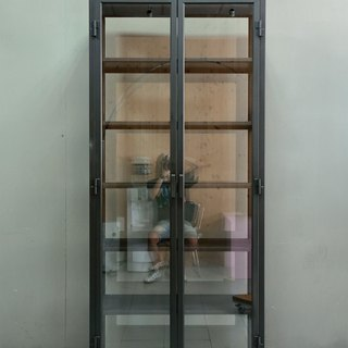 Industrial style _ custom glass storage cabinet / model display cabinet / showcase / commercial space, etc. applicable ***accept customized size**