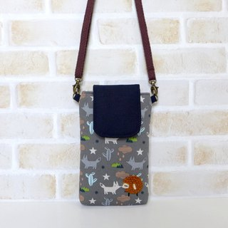 Embroidery Sheep Mobile Bag - Fox Forest (with strap)