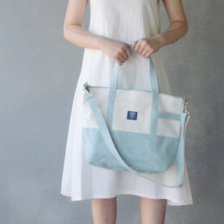 Japanese classic big tote bag _ light blue