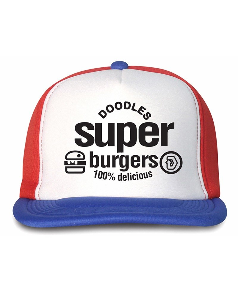 Blue / White / Red Snapback Cap white / red / blue baseball cap 3 color, pattern unique SUPER BURGER