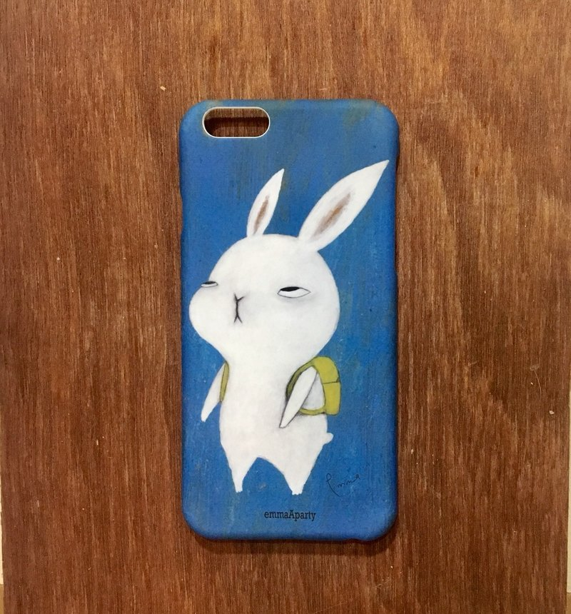 emmaAparty illustration phone case: rabbits who don't want to go to work