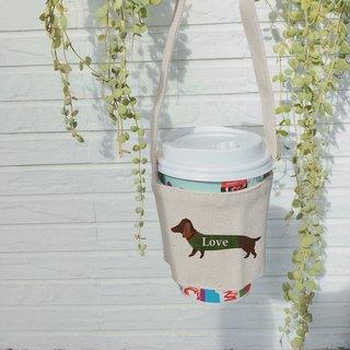 Canvas drink bag | Love dogs