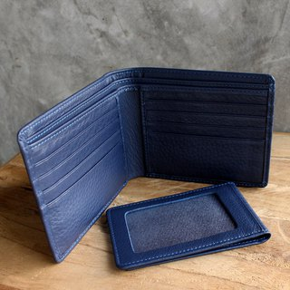 Wallet - Bifold Plus - Blue - สีน้ำเงิน (Genuine Cow Leather) / 钱包 / 皮包 / 短夹