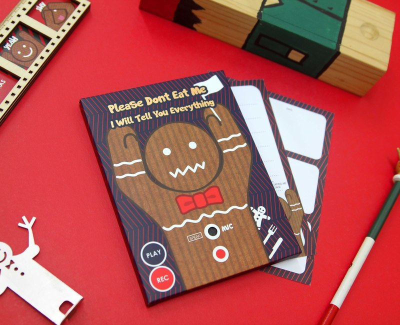 Recorder Card - Gingerbread Man