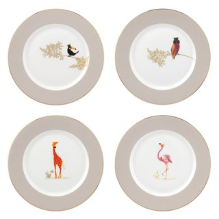 Sara Miller London For Portmeirion Piccadilly Collection Cake Plates Set of 4