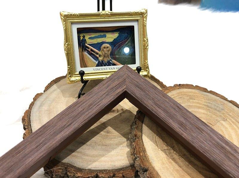 【252紫松木相框】500片尺寸客製化訂製