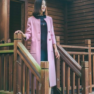 Pink-sided cashmere coat