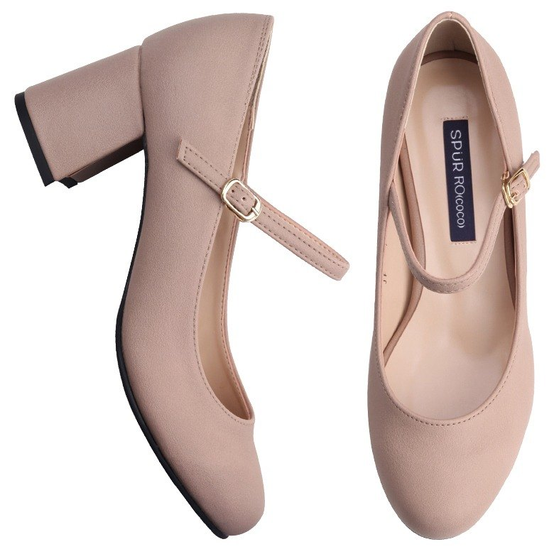 SPUR ADORABLE MARY JANES HEELS JF7031 BEIGE