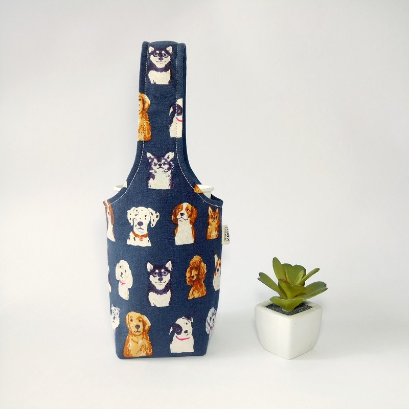 [Dog illustration - blue] double-sided drink cup set ice tyrant cup set green cup set water bottle bag