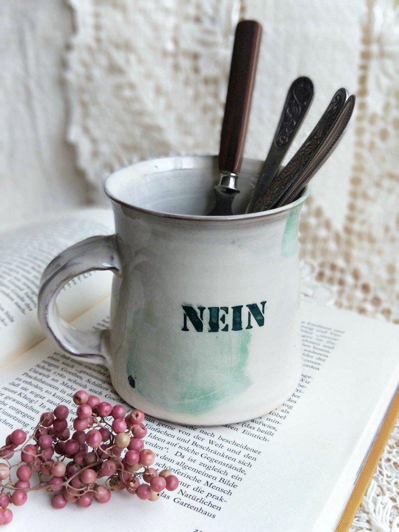 【好日戀物】德國vintage/antique手工陶器馬克杯/餐具置物杯