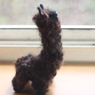 Dark brown alpaca 16cm high